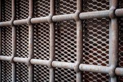 Barras de aço de uma prisão fotos de stock royalty free