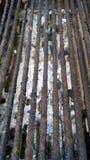 Barras de aço usadas como um torrador da carne Imagem de Stock
