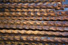Barras de acero Imágenes de archivo libres de regalías