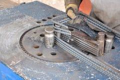 Barras de acero de la construcción Foto de archivo libre de regalías