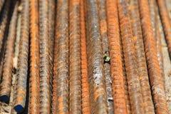 Barras de acero oxidadas Imágenes de archivo libres de regalías