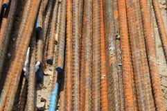 Barras de acero oxidadas Fotografía de archivo