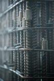 Barras de acero para reforzar el concreto Imágenes de archivo libres de regalías