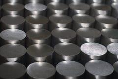 Barras de acero redondas Fotografía de archivo