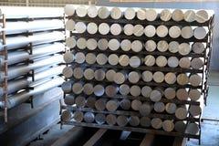 Barras de aluminio Foto de archivo libre de regalías