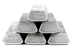 Barras de aluminio imagen de archivo libre de regalías