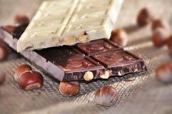 Barras de chocolate fotografia de stock royalty free