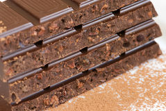 Barras de chocolate fotografía de archivo libre de regalías