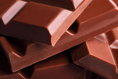 Barras de chocolate Imagen de archivo libre de regalías