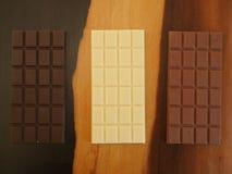 Barras de chocolate Imagens de Stock