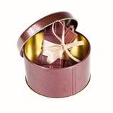 Barras de chocolate atadas con una cinta Imagenes de archivo