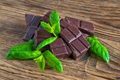 Barras de chocolate da hortelã Imagem de Stock Royalty Free
