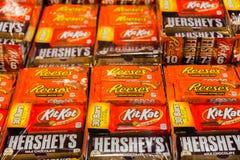 Barras de chocolate de Hershey imagem de stock royalty free