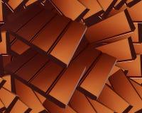 Barras de chocolate escasas deliciosas Imagen de archivo