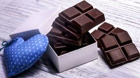 Barras de chocolate escuras Imagens de Stock Royalty Free