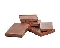Barras de chocolate isoladas Foto de Stock Royalty Free