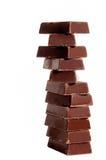 Barras de chocolate oscuras foto de archivo