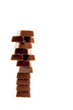 Barras de chocolate oscuras imagen de archivo libre de regalías