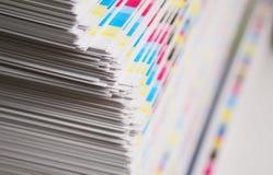 Barras de color de la hoja de la impresión de CMYK Fotos de archivo