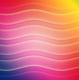 Barras de color onduladas del arco iris Fotos de archivo