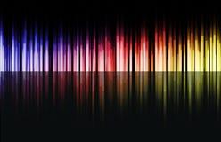 Barras de cor do arco-íris Fotos de Stock Royalty Free