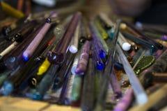 Barras de cristal de Borosilicate Imagen de archivo libre de regalías