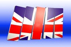 3 barras de D con el Union Jack stock de ilustración