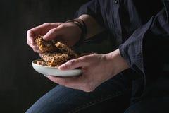 Barras de granola da energia fotografia de stock royalty free