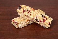 Barras de granola de la fruta y de la nuez Imagen de archivo libre de regalías