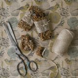 Barras de Granola hechas en casa, Flapjack fotografía de archivo