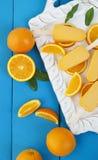 Barras de helado anaranjadas del polo Fotos de archivo