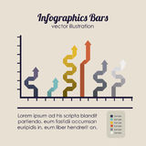 Barras de Infographics Imagem de Stock Royalty Free