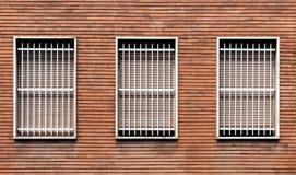 Barras de janela e janelas fechados imagem de stock royalty free