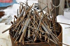 barras de la construcción metálica Foto de archivo libre de regalías