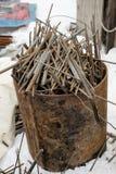 barras de la construcción metálica Imagen de archivo libre de regalías