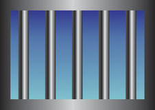 Barras de la cárcel Foto de archivo libre de regalías