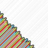 Barras de la esquina retras coloridas ilustración del vector