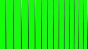 Barras de la prisión en verde almacen de metraje de vídeo