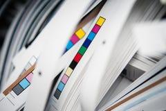 Barras de la referencia del color fotografía de archivo