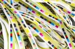 Barras de la referencia del color de la impresión foto de archivo libre de regalías
