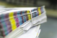 Barras de la referencia del color del papel de imprenta foto de archivo libre de regalías