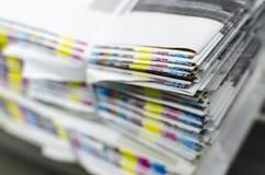 Barras de la referencia del color del papel de imprenta fotos de archivo libres de regalías