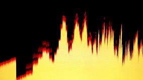 Barras de los sonidos almacen de video