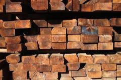 Barras de madera Imágenes de archivo libres de regalías