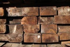 Barras de madera Fotos de archivo