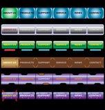 Barras de menu ilustração stock