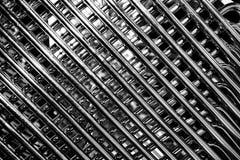 Barras de metal abstractas diagonales Imagenes de archivo