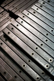 Barras de metal acabadas Imagen de archivo libre de regalías