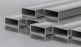 Barras de metal de acero Concepto de la industria de la metalurgia 3D rindió la ilustración ilustración del vector