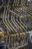 Barras de metal curvadas Imagens de Stock Royalty Free